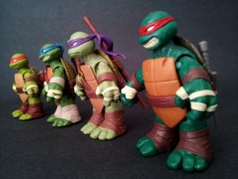 TMNT SD 2012 - Line Up by 0PT1C5