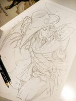 Sketch: Vampire Hunter D Fan Art - Target by Hallowie29