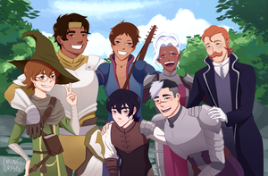 Team Voltron RPG by yainedraws