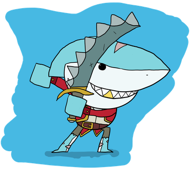 Shark Attack Thatch by clunse