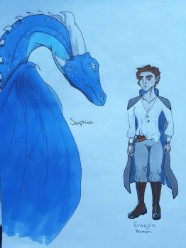 Eragon and Saphira by AutumnColoures