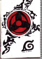 Sharingan AND Naruto's seal by poisonappleltd