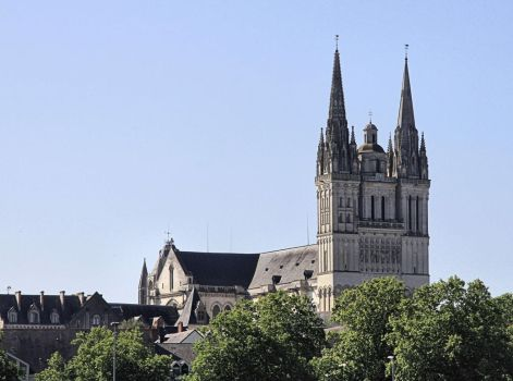Cathedral of Angers ( 2 ) by UdoChristmann