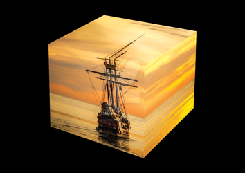 Ship in the Cube by LisasDezign