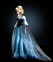 Disney Haut Couture - Elsa by tiffanymarsou