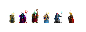 Duelyst Faction Sages (Fanart for Duelyst) by TwoQuarters