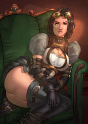 Lady Mechanika Reclining by vest