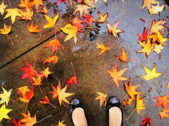 Walking With Autumn by SunshinesSilhouette