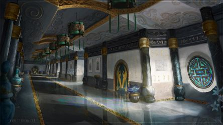 The Emperor's Soul - Imperial Wing Hallway by Lyraina