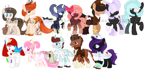 Egg Reveals so far! by Russet-Adopts