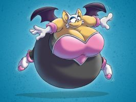 Sexy Sumo Rouge the Bat by RickyDemont