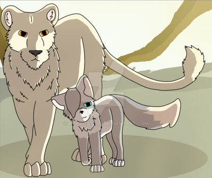 Lion And The Wolf by WolfCat100
