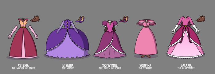 Dresses of the Queens - Age of Heroes by jgss0109