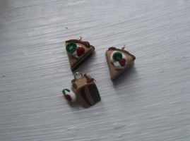 Sculpey Chocolate cake Charms by Lisa99