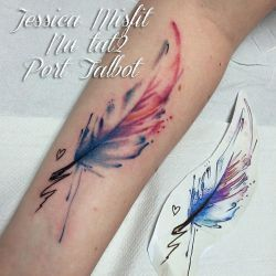 Watercolour Feather by JessicaMisfit