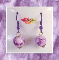 Purple Marble Earrings by Lovelyruthie