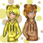 Freddy and goldie by wolfdrawing2