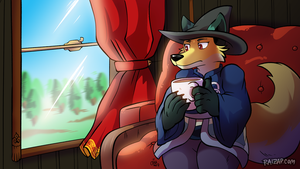 [Commission] Vera on a Train by raizy