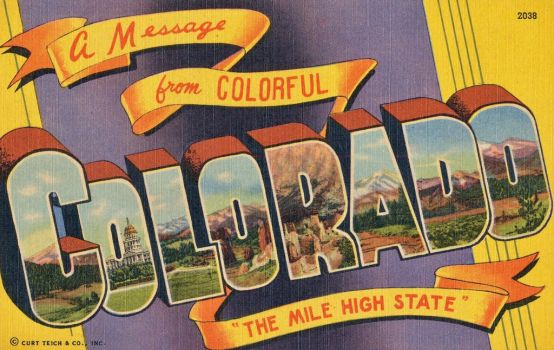 Large Letter Postcards - Colorful Colorado by Yesterdays-Paper