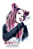 SaphirNoir Paint GothCats PortraitArt by ArthusokD