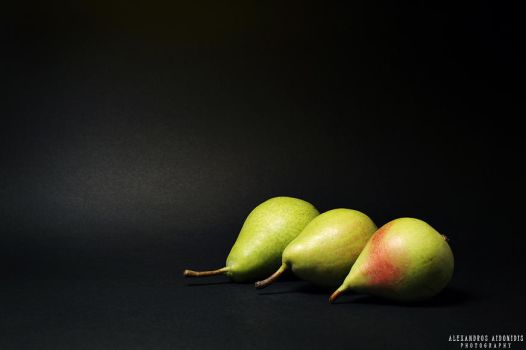Three Pears by AlexAidonidis