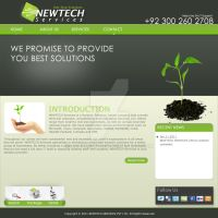 NewTech Services home by adeemsyed