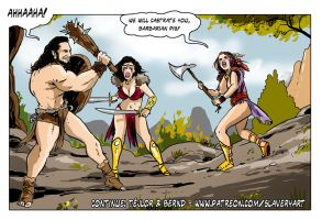 Amazon vs barbarian by tejlor