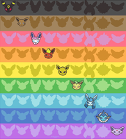Pride Month: Eeveelutions!! by dullanyan