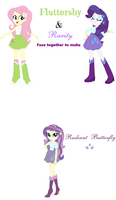 Rarity and Fluttershy Fusion by EliseChaosRosetta