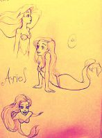 Ariel Sketches by SilvianArt