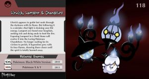 Nintober #118. Litwick, Lampent and Chandelure