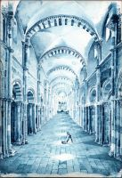 Nef de Vezelay - Prussian blue by UnAutreLapin