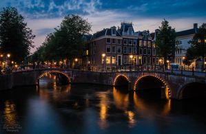 canals in Amsterdam by LunaFeles