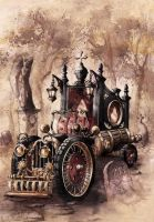 Steampunk Hearse by GrimDreamArt