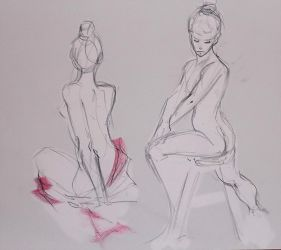 Life drawing - March 2018 by Gizmoatwork