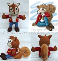 Plush - Jay the Squirrel by tcat