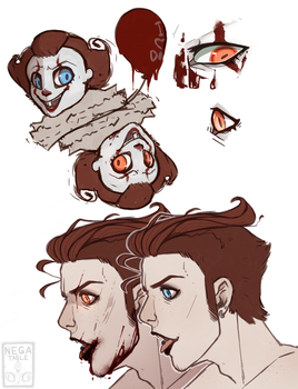 Pennywise warm up sketches by Negatable