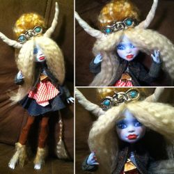 Monster High Custom: Highland Cow, Jessie by TerribleToadQueen
