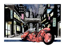 Kaneda's Bike by rod-roesler