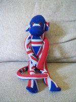 Union Flag Sock Monkey by Kat2805