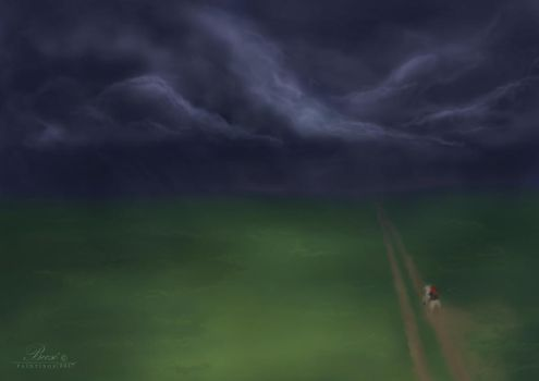 Running home - speed painting by Becso-dimension