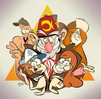 Gravity Falls by Themrock