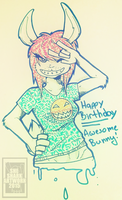 Maccarroni w cheese for a birthday by She-Shark