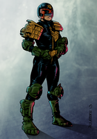 Judge Dredd Colour by decibelfx