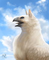 White Griffin by Azcazach