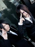 KAJI and SUZUNE Cosplay by nyappy-aoi