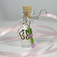 Green and Pink Baby Pendant by GeneveveX