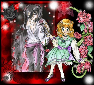 Young Dracula and Little Lucy by sayuri-hime-7
