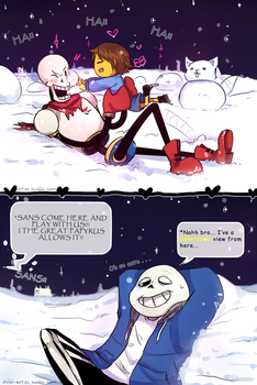 Snow time!!! -Undertale- by NathyLove5