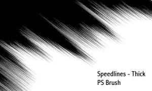 Speedlines thick - PS brush by screentones